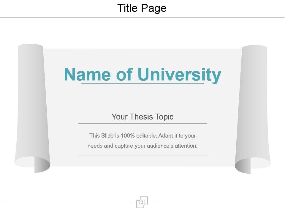 Planning Thesis Proposal Powerpoint Presentation Slides