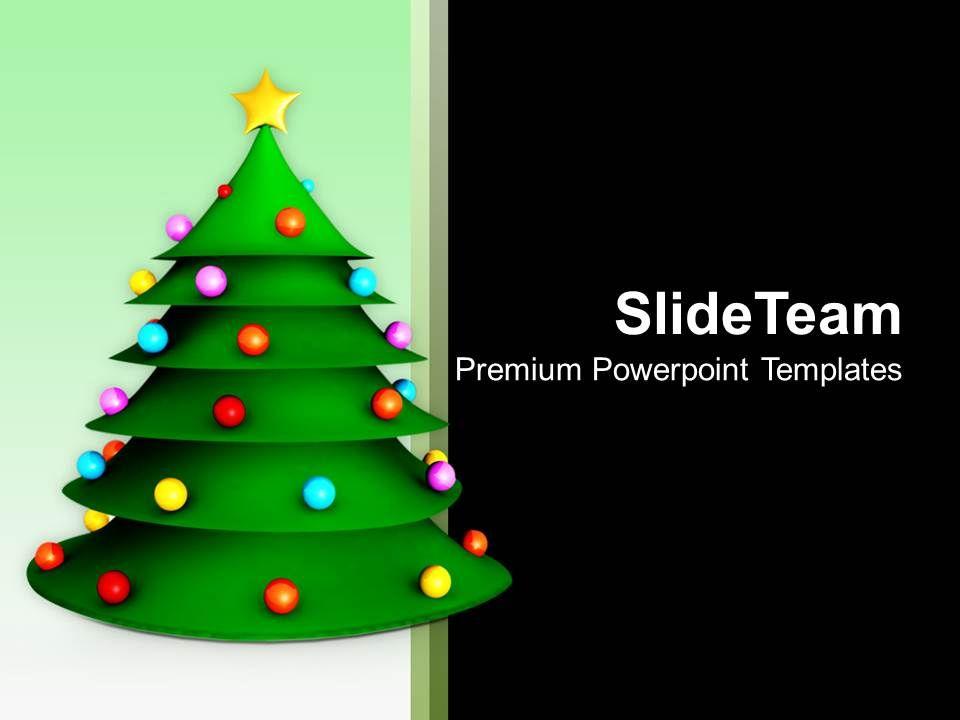 Pleasant Holidays Christmas Balls 3d Tree Festival Powerpoint
