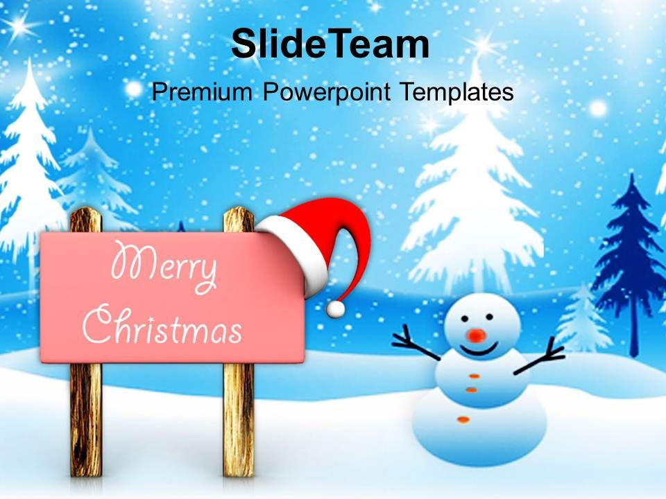 Pleasant Holidays Christmas Trees Background Powerpoint Templates