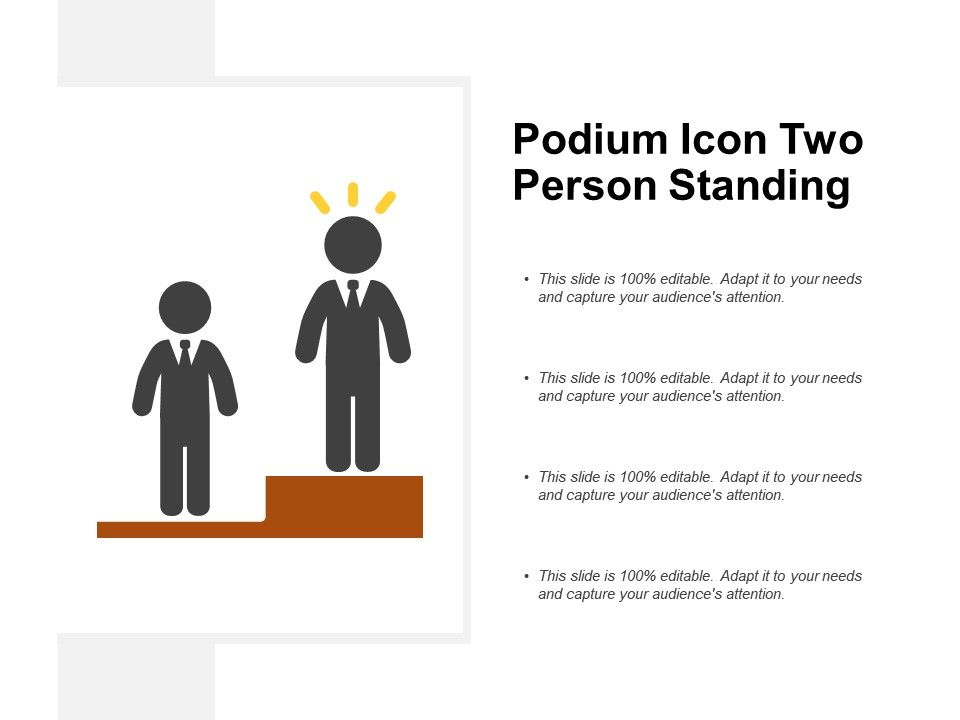 Podium Icon Two Person Standing