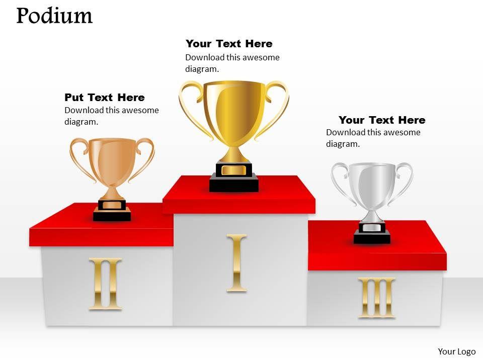 podium powerpoint template slide | powerpoint presentation, Presentation templates