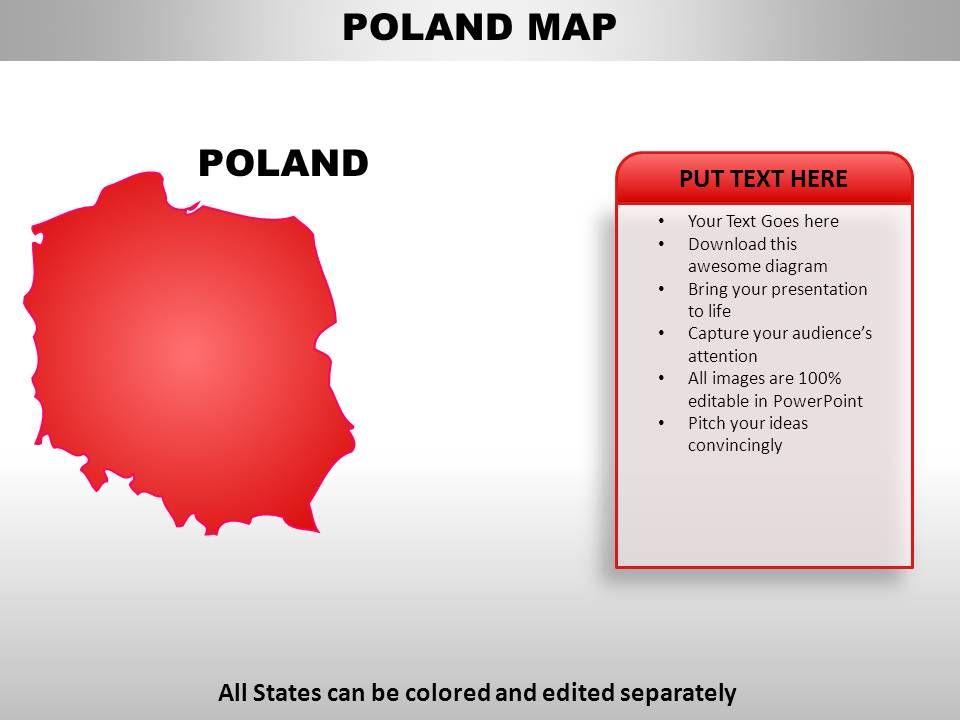 Poland flag powerpoint template presentationgo. Com.