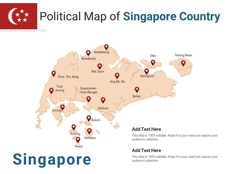 Political Map Of Singapore Country Powerpoint Presentation Ppt Template