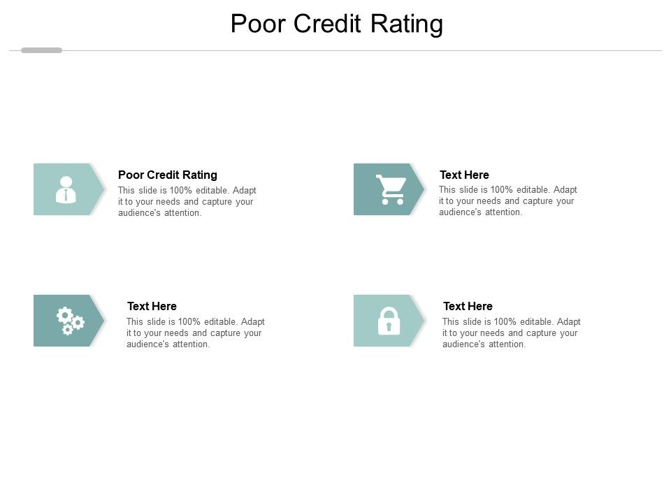 Poor Credit Rating Ppt Powerpoint Presentation Styles Layouts Cpb