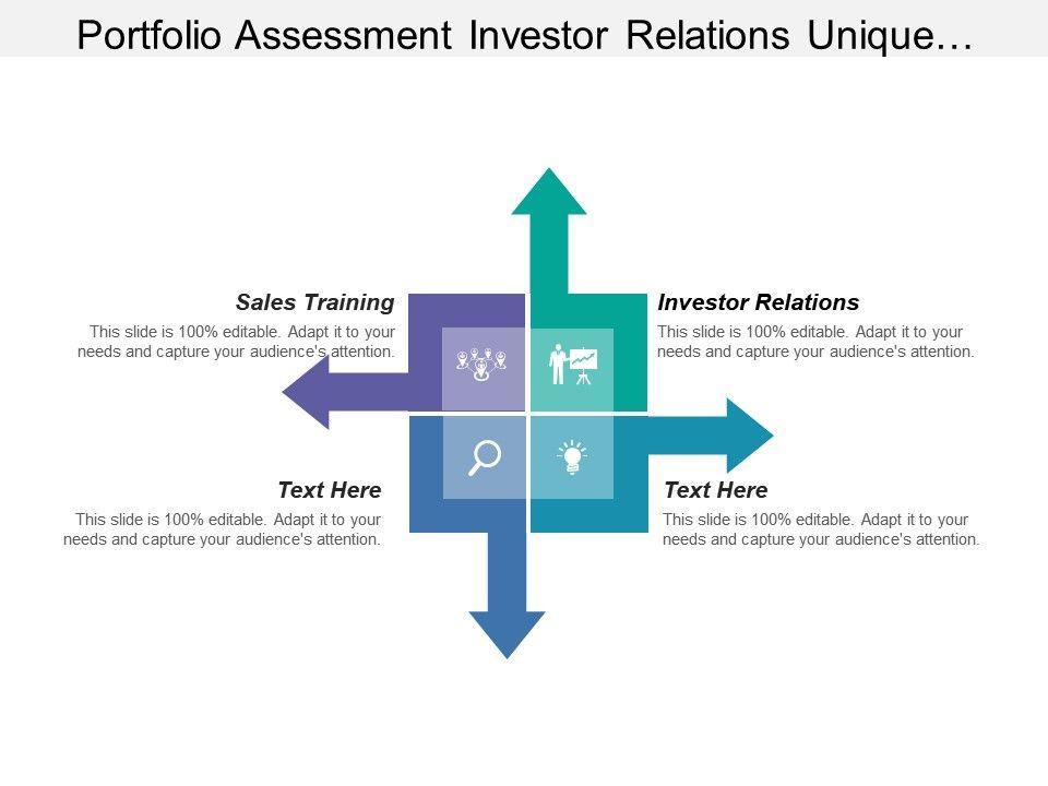 portfolio assessment investor relations unique compelling value, Investor Relations Presentation Template, Presentation templates