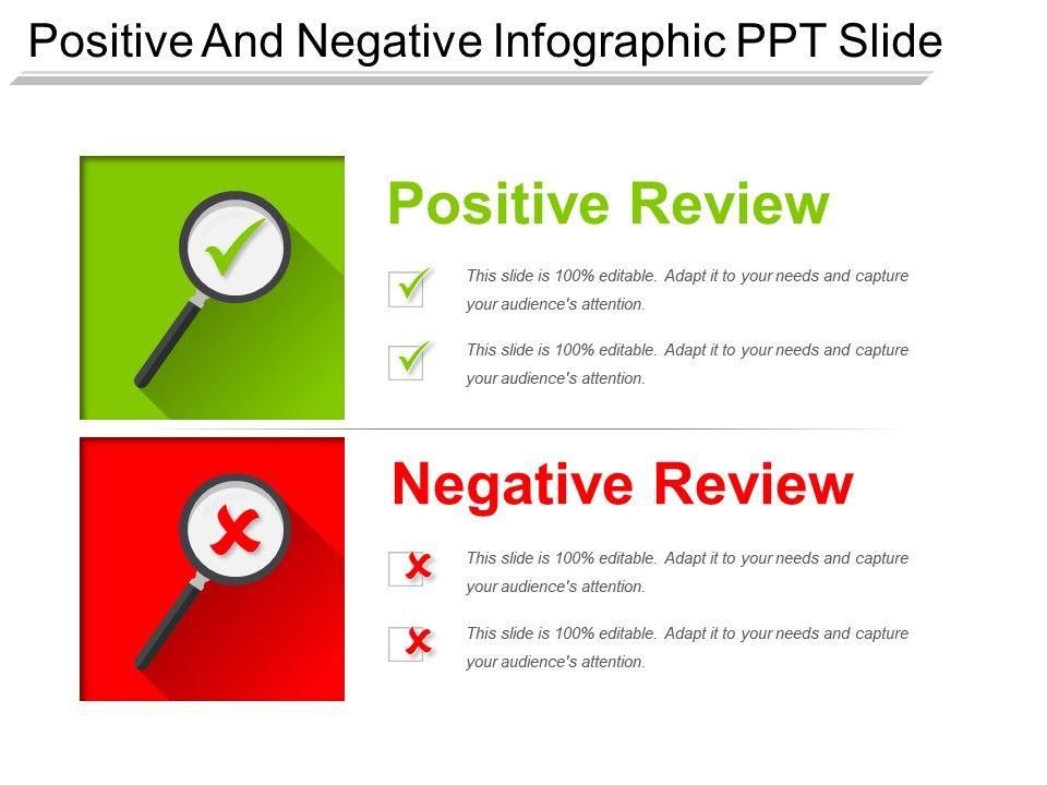 positive and negative infographic ppt slide graphics presentation