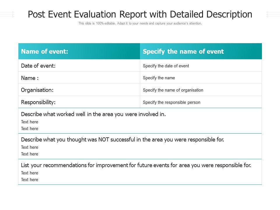 Post Event Report Template from www.slideteam.net