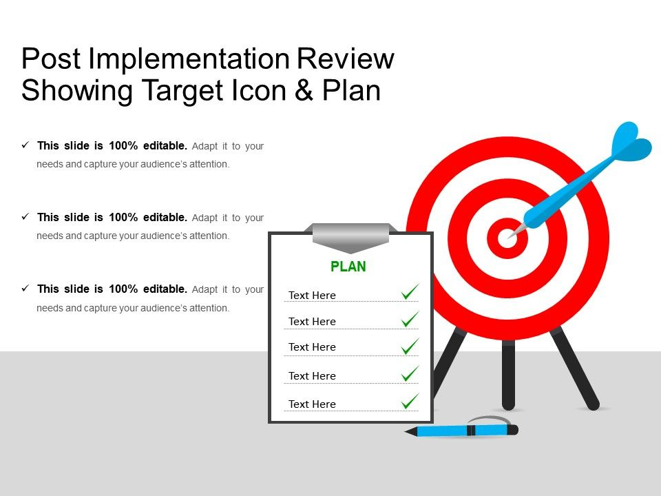 post_implementation_review_showing_target_icon_and_plan_Slide01
