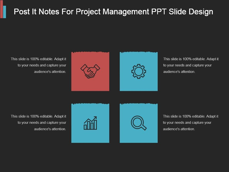 Post It Notes For Project Management Ppt Slide Design Templates
