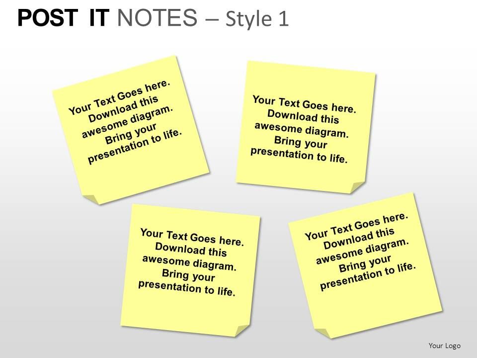 post it notes style 1 powerpoint presentation slides powerpoint