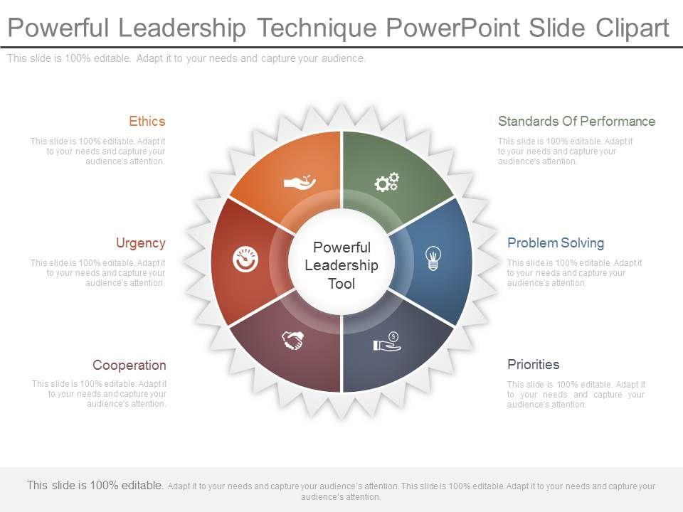 powerful leadership technique powerpoint slide clipart powerpoint