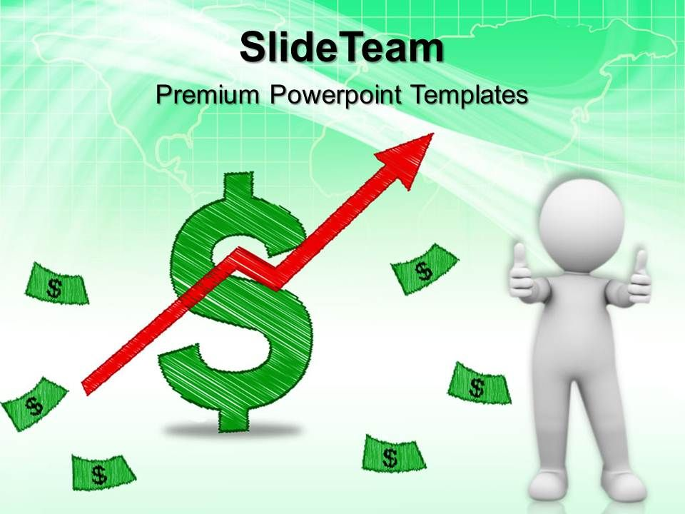 powerpoint_for_business_templates_dollar_up_arrow_graph_finance_ppt_theme_Slide01