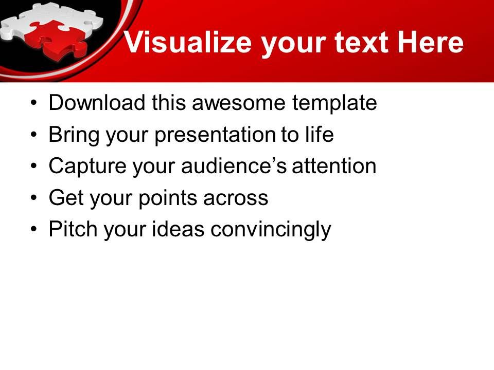 Powerpoint Puzzle Pieces Template Templates Red Solution Jigsaw