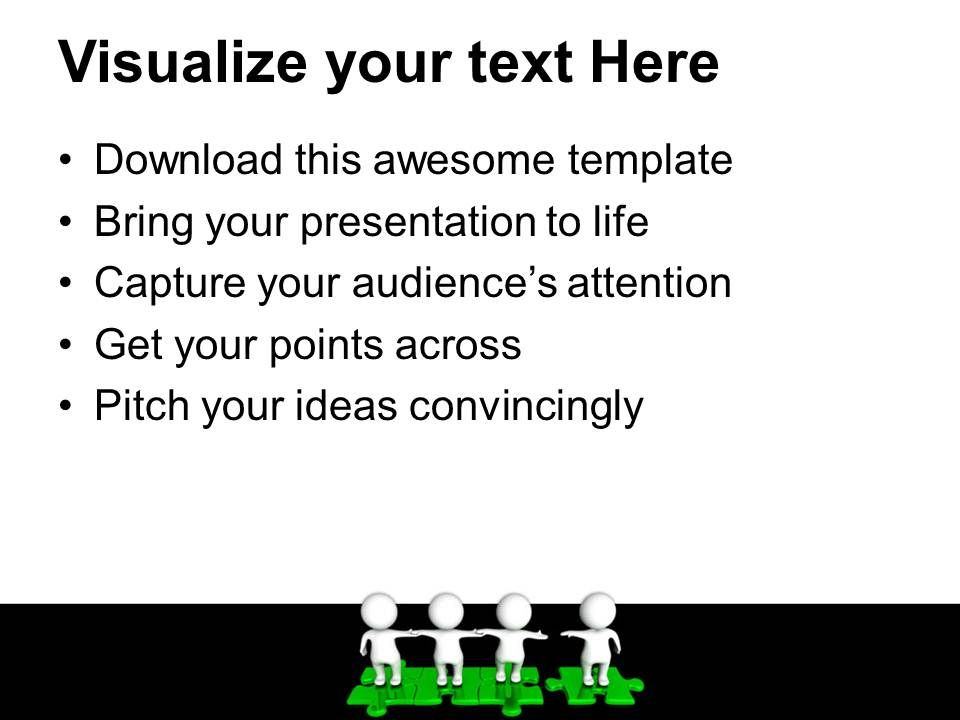 Powerpoint Puzzle Pieces Template Templates Standing Together On