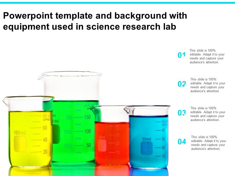 Powerpoint Template And Background With Equipment Used In Science Research Lab