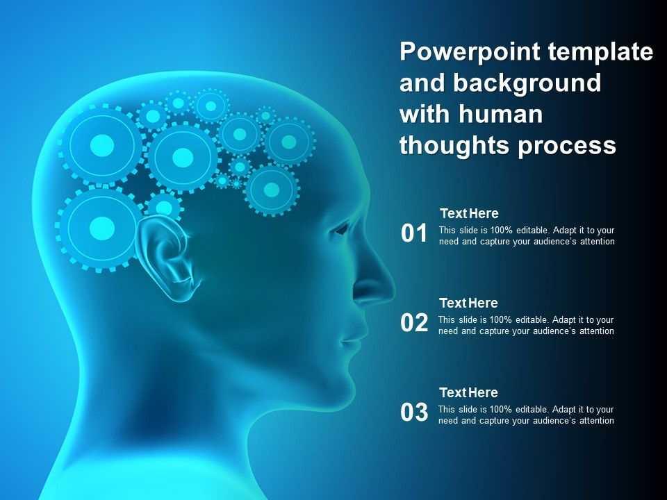 Powerpoint Template And Background With Human Thoughts Process