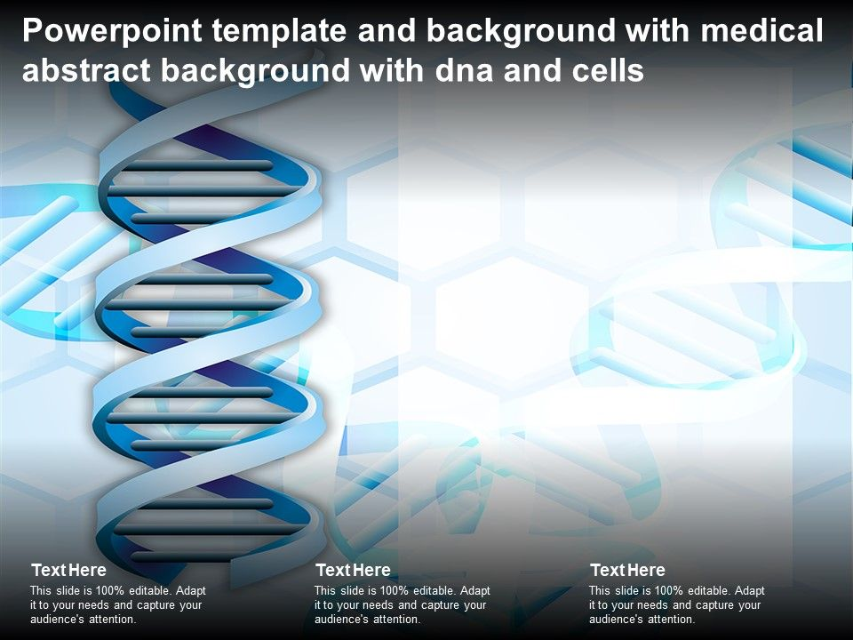 Powerpoint Template And Background With Medical Abstract Background With DNA And Cells