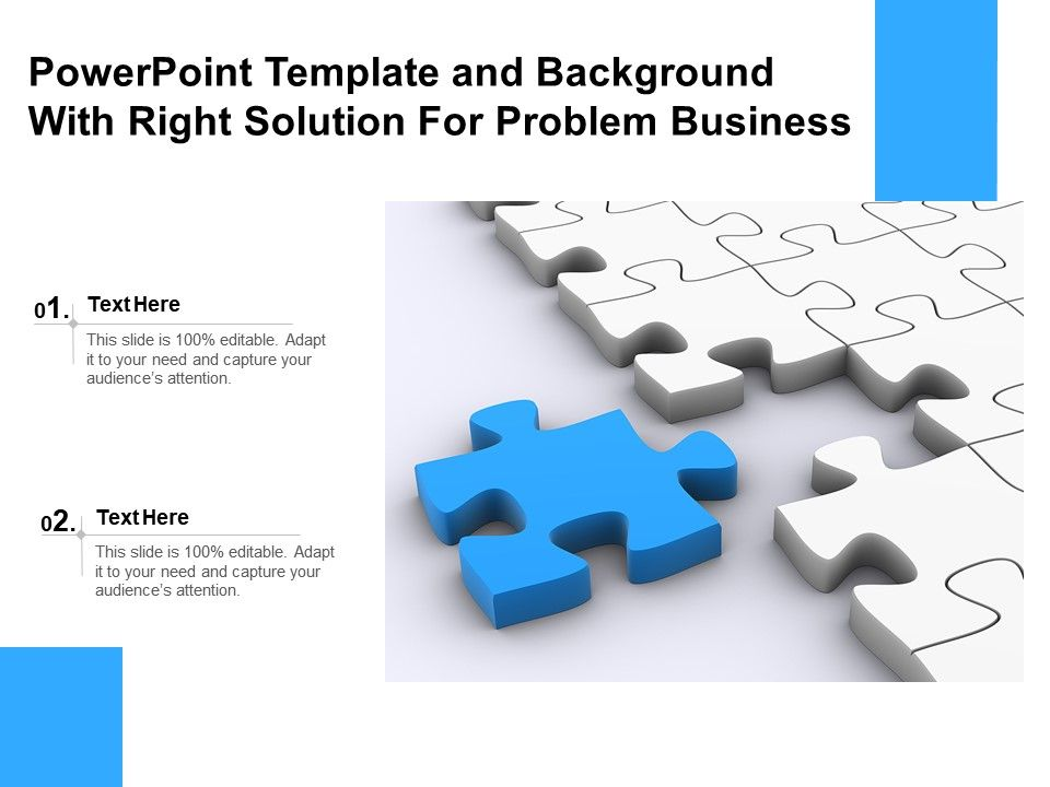 Powerpoint Template And Background With Right Solution For Problem Business