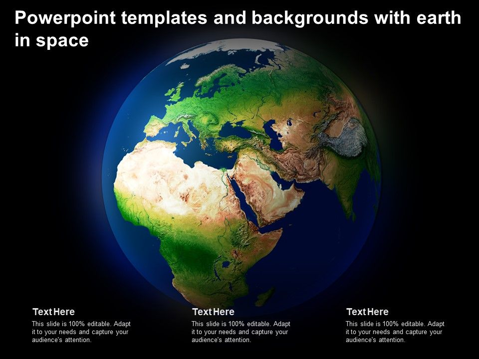 Powerpoint Templates And Backgrounds With Earth In Space