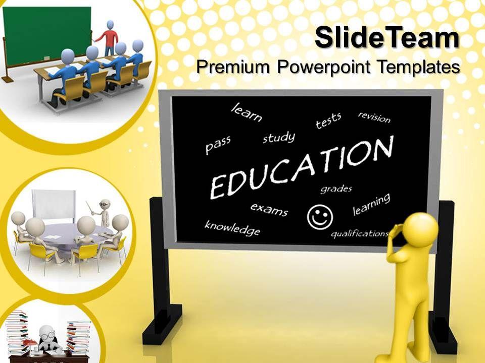 powerpoint templates download education blackboard future diagram