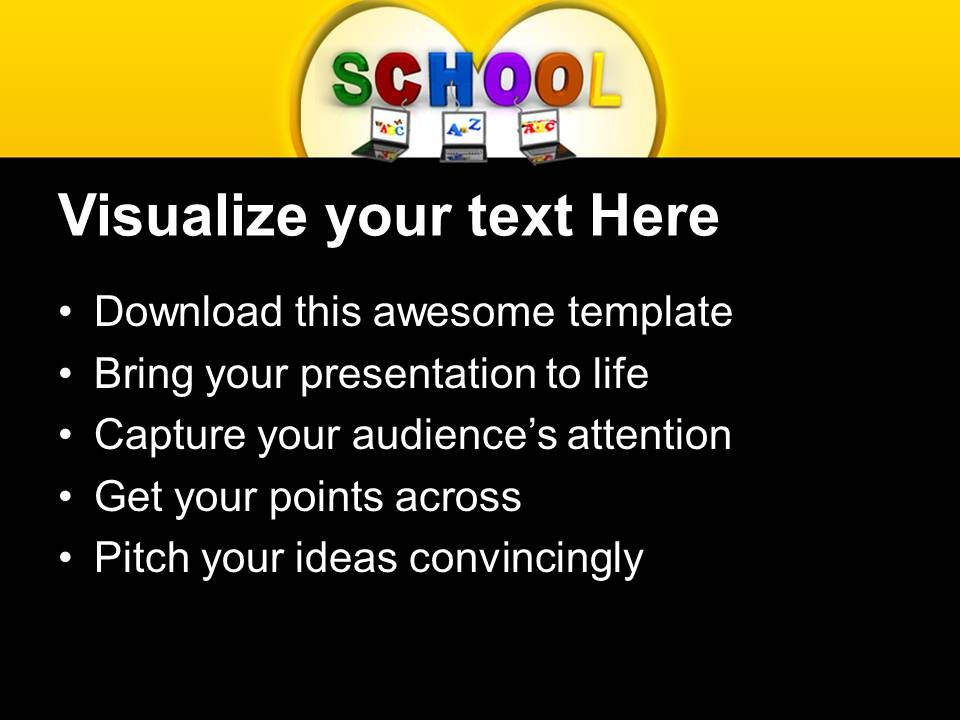 Powerpoint Templates Education Theme Connected To School Ppt