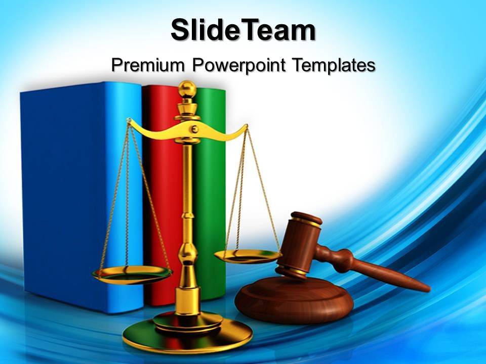 Powerpoint Templates Education Theme Justice Law Business Ppt