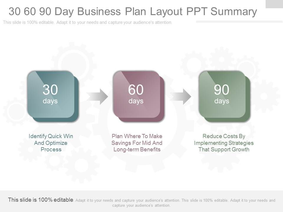 ppt 30 60 90 day business plan layout ppt summary powerpoint