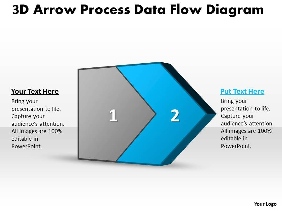 PPT 3d arrow process data flow network diagram powerpoint ...