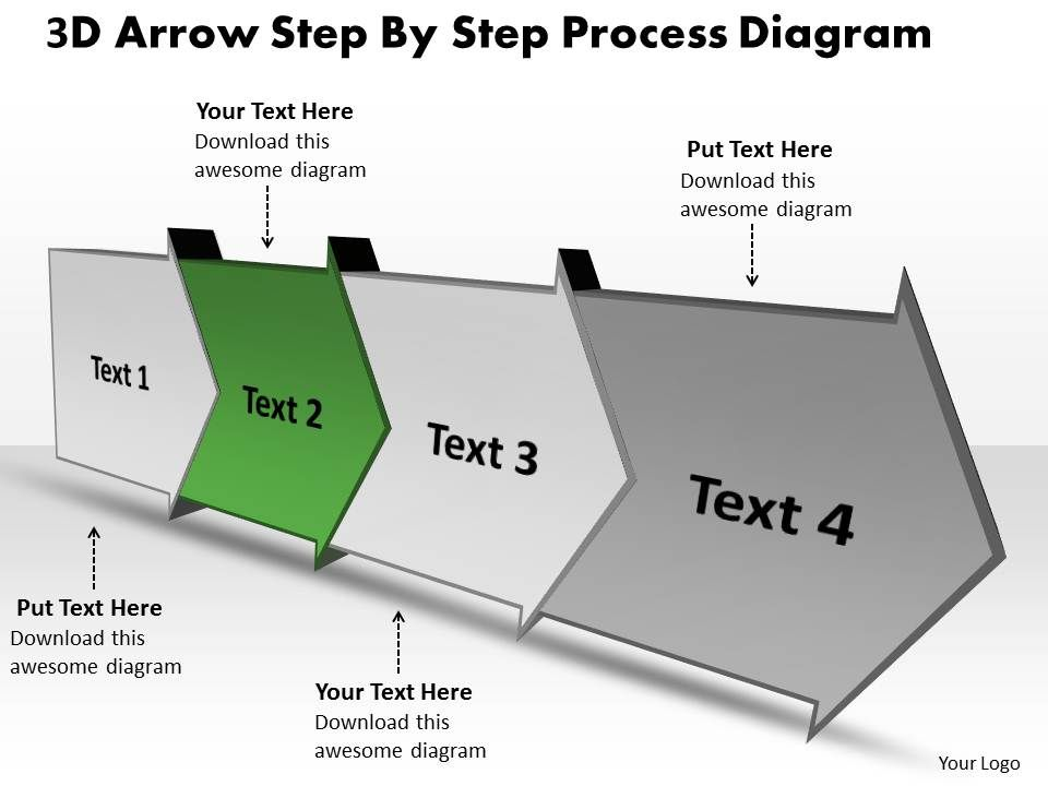 Ppt_3d_arrow_step_by_process_spider_diagram_powerpoint_template_business_templates_4_stages_Slide03