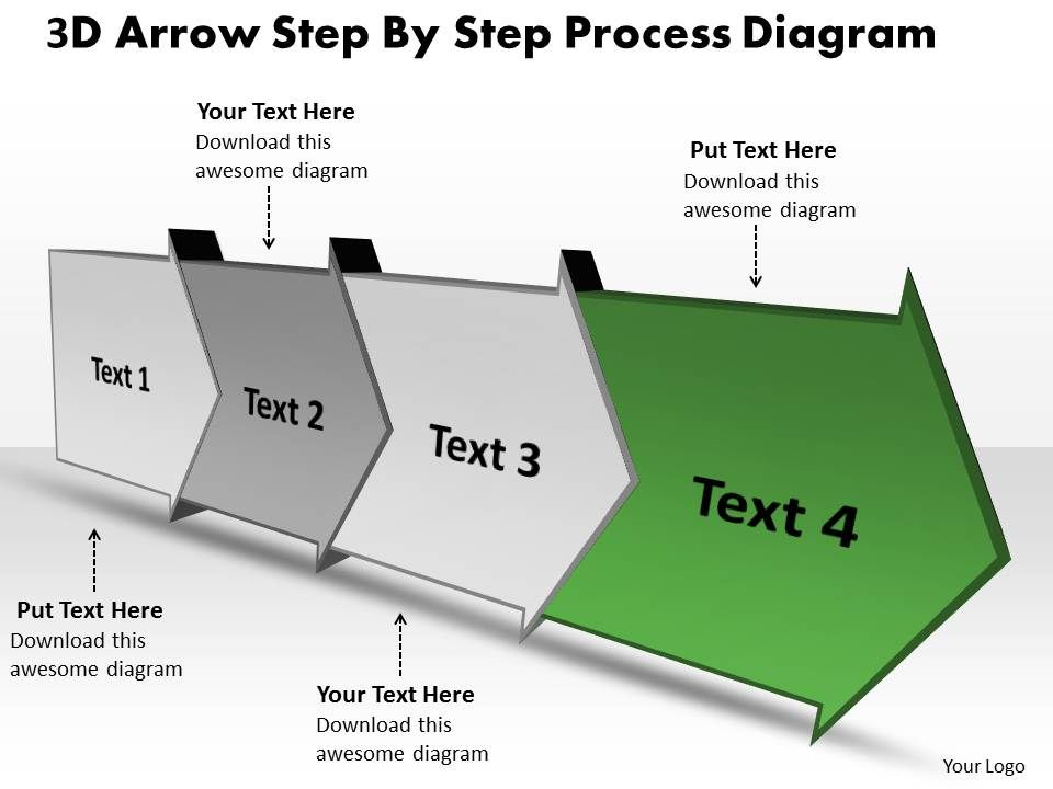 Ppt 3D Arrow Step By Process Spider Diagram Powerpoint Template