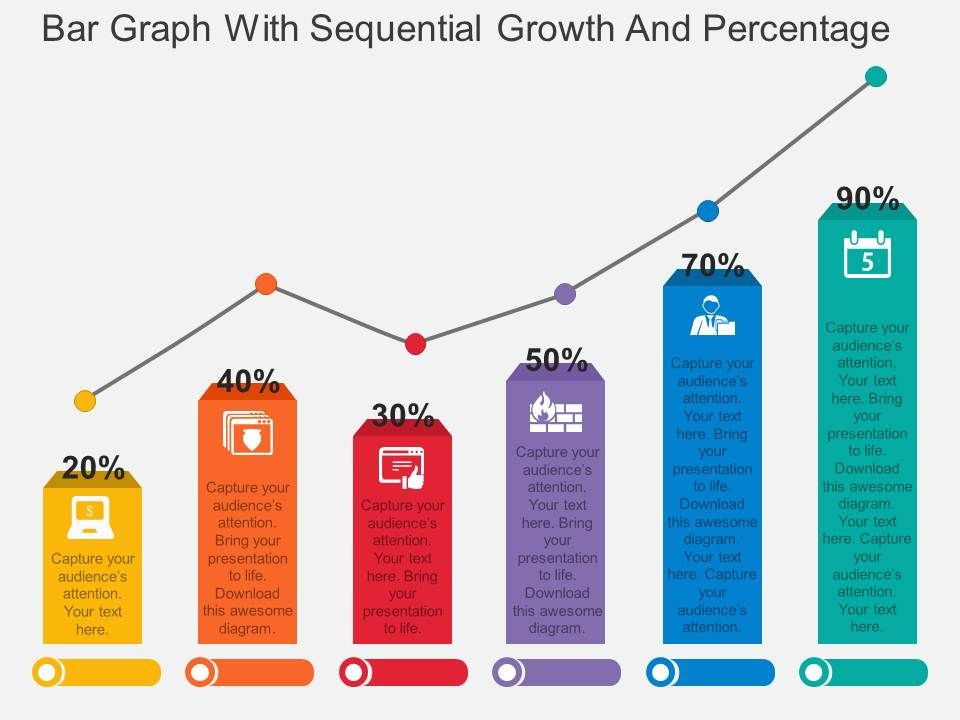 Ppt bar graph with sequential growth and percentage flat powerpoint pptbargraphwithsequentialgrowthandpercentageflatpowerpointdesignslide01 ccuart Images