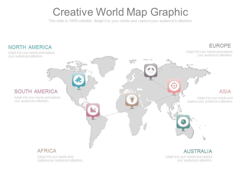 Ppt Creative World Map Graphic | Presentation PowerPoint ...
