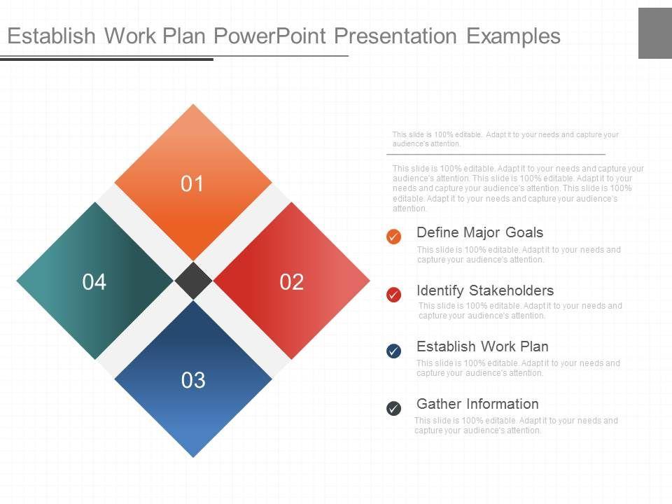 ppt establish work plan powerpoint presentation examples