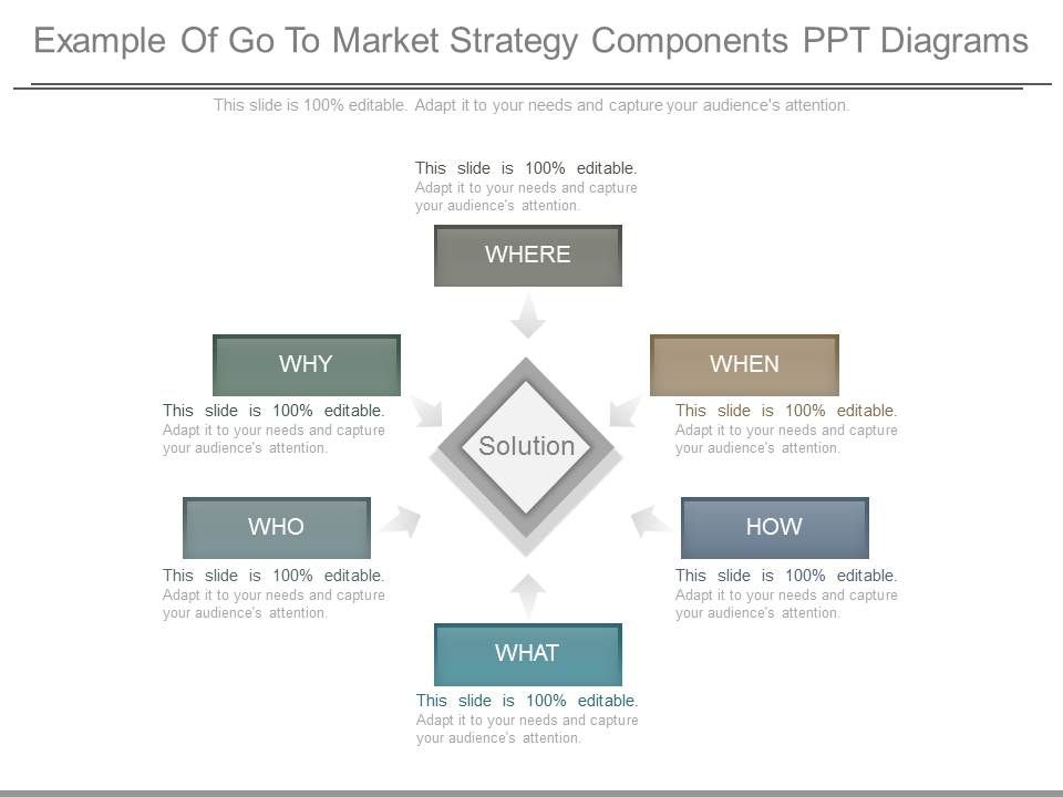 Ppt Example Of Go To Market Strategy Components Ppt Diagrams