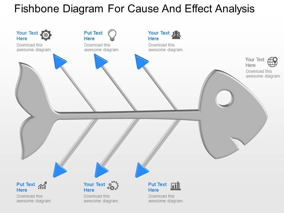 ppt_fishbone_diagram_for_cause_and_effect_analysis_powerpoint_template_Slide01