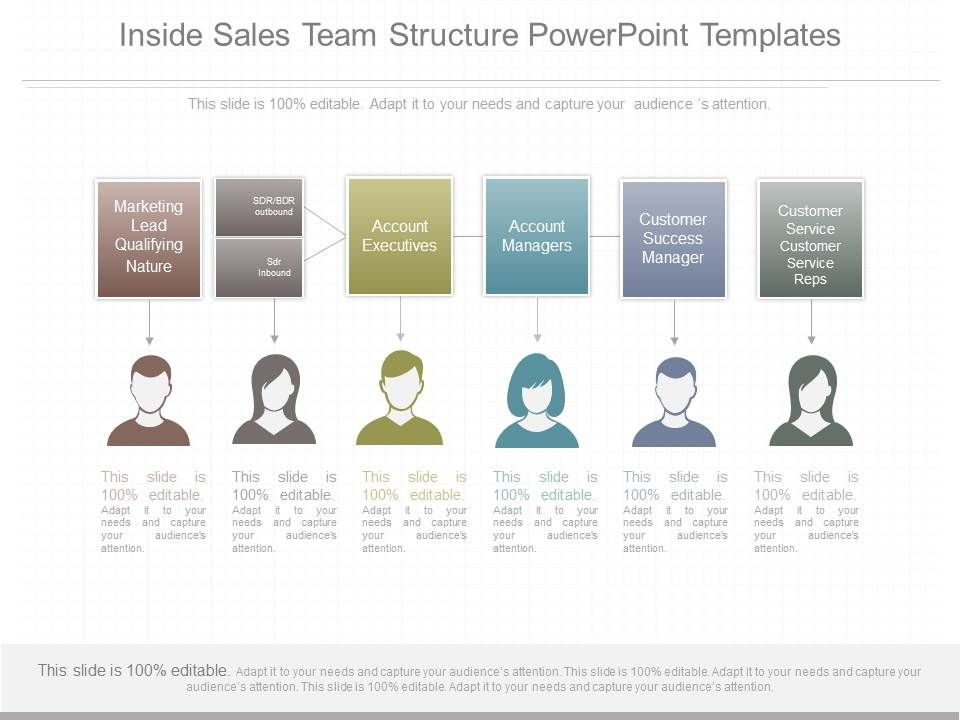 Ppt inside sales team structure powerpoint templates slide01 for Sales slick template