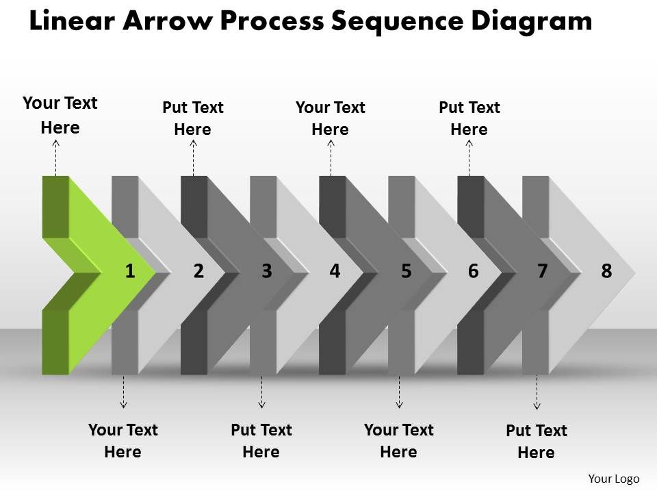 ppt linear arrow process sequence ishikawa diagram powerpoint, Modern powerpoint