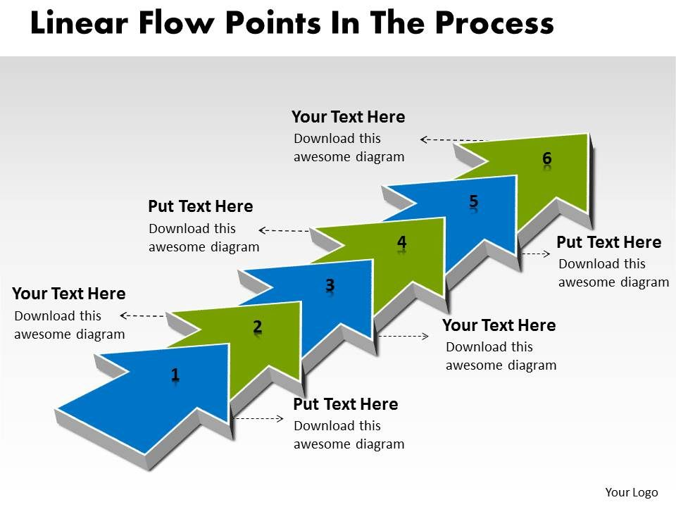 Ppt linear demo create flow chart powerpoint points the process pptlineardemocreateflowchartpowerpointpointstheprocessbusinesstemplates6stagesslide01 ccuart Images