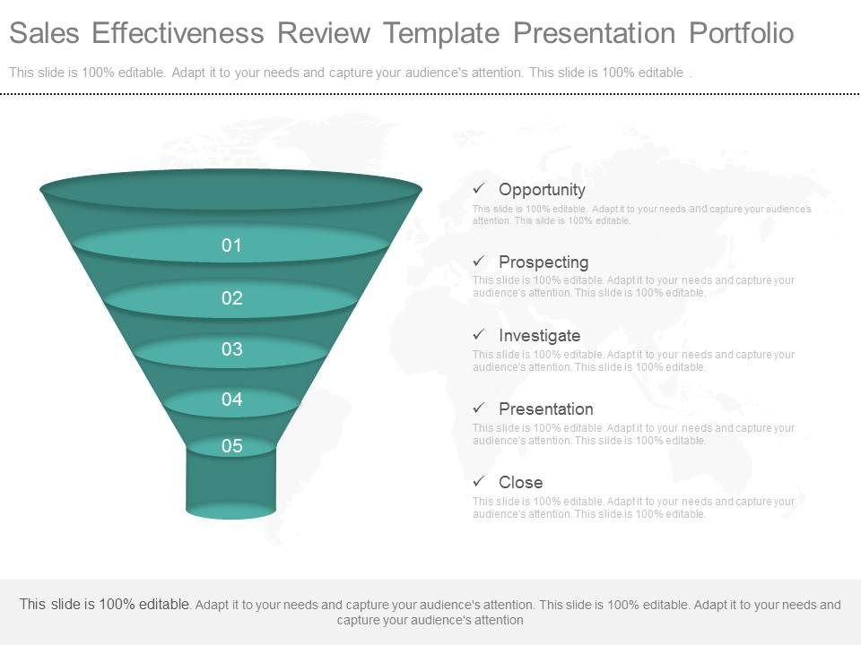 Ppt Sales Effectiveness Review Template Presentation Portfolio