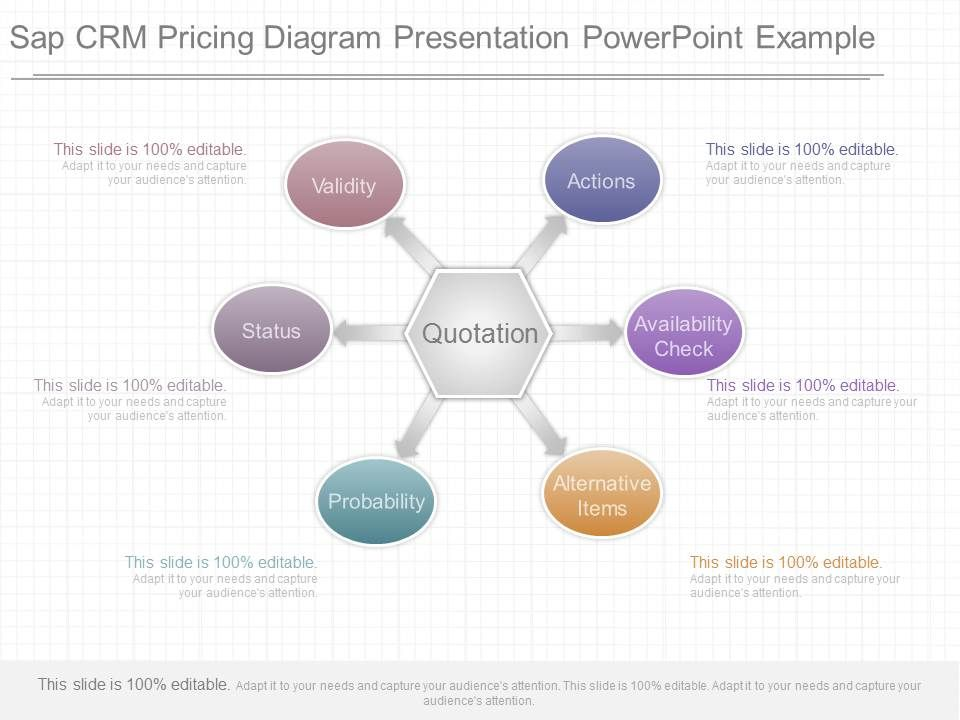 ppt sap crm pricing diagram presentation powerpoint