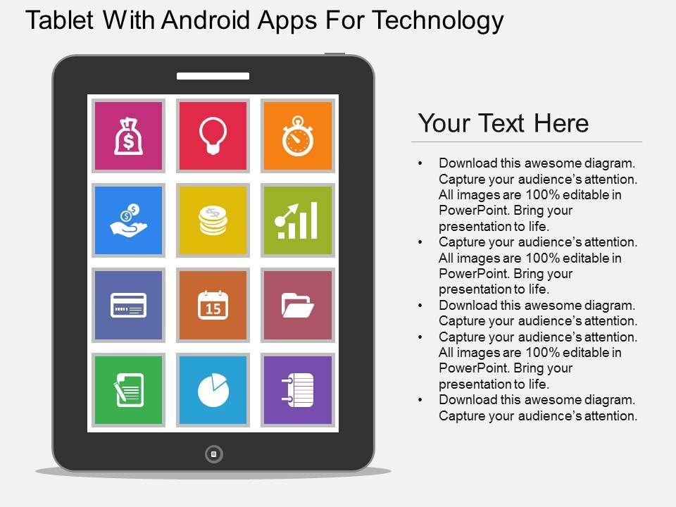 ppt_tablet_with_android_apps_for_technology_flat_powerpoint_design_slide01 ppt_tablet_with_android_apps_for_technology_flat_powerpoint_design_slide02