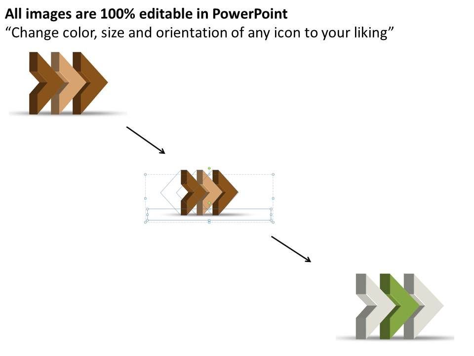 Ppt Three Sections Linear Arrow Spider Diagram Powerpoint