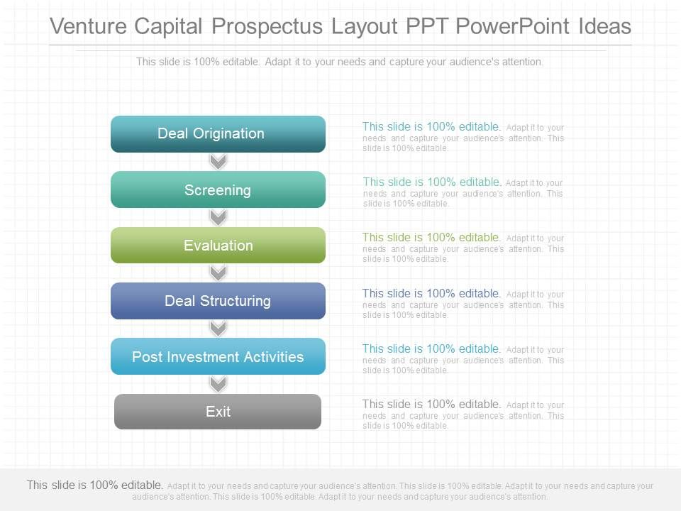 Ppt Venture Capital Prospectus Layout Ppt Powerpoint Ideas - Venture capital website template