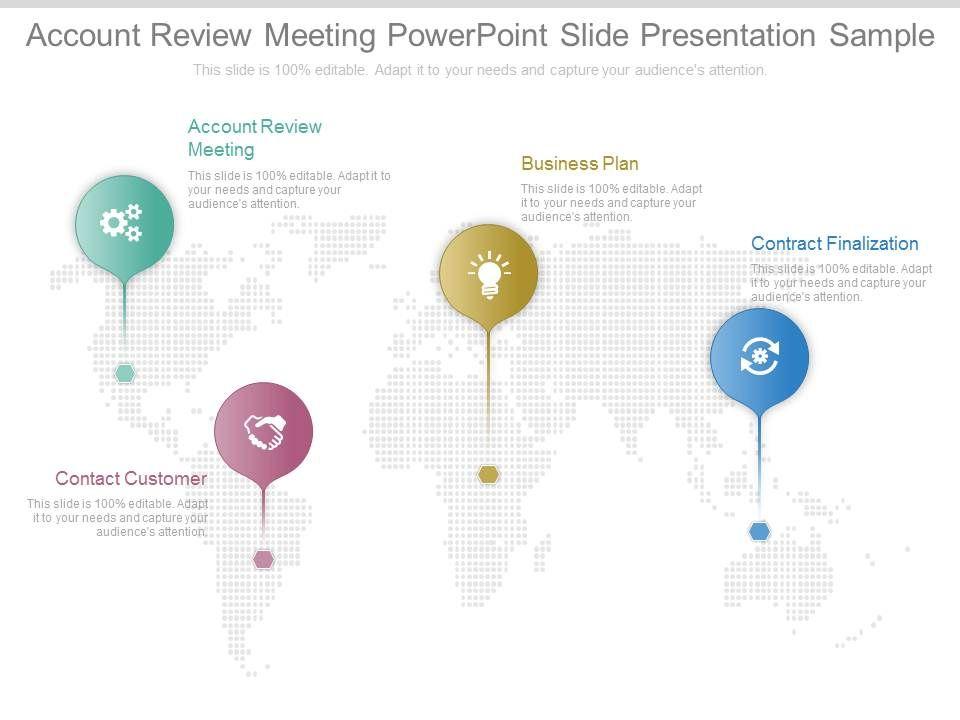 Ppts Account Review Meeting Point Slide Presentation Sample Slide01 Slide02