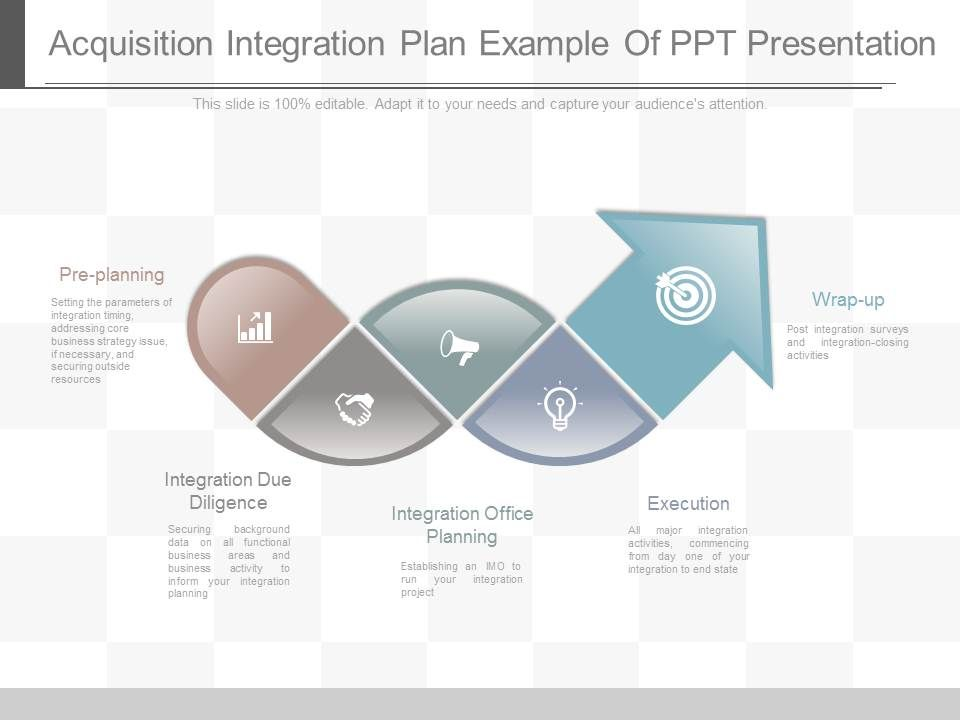 Ppts Acquisition Integration Plan Example Of Ppt Presentation Slide01 Slide02