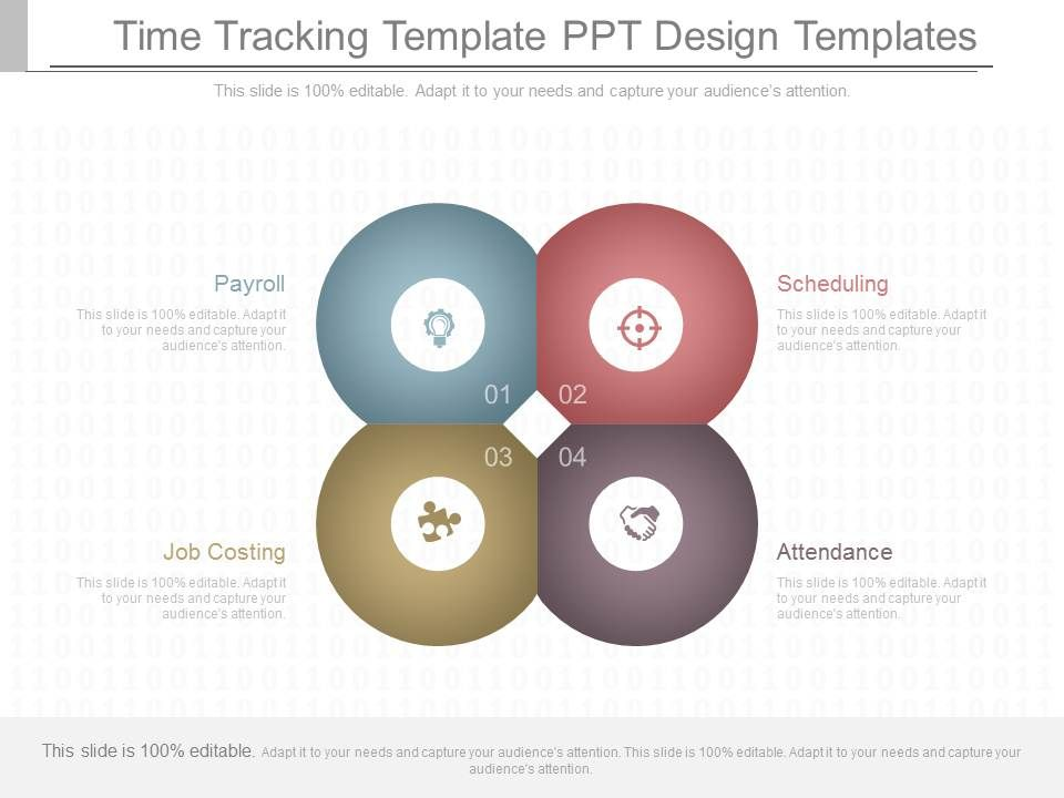 pptx time tracking template ppt design templates powerpoint