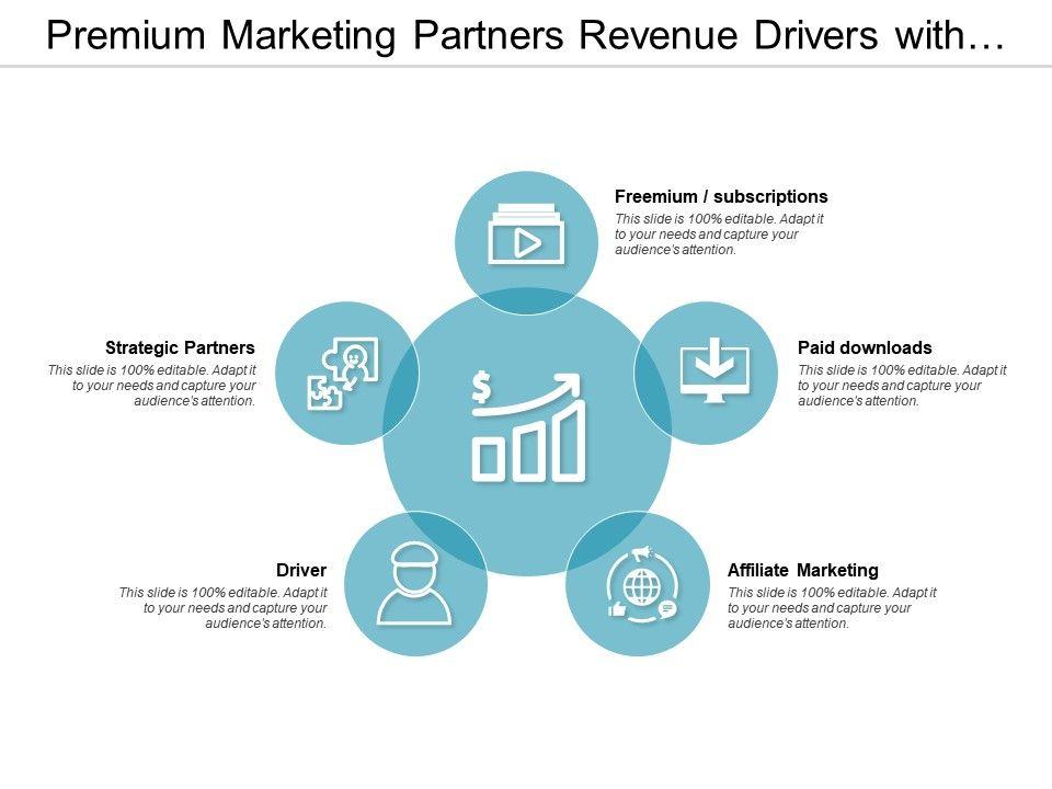 premium_marketing_partners_revenue_drivers_with_icons_Slide01