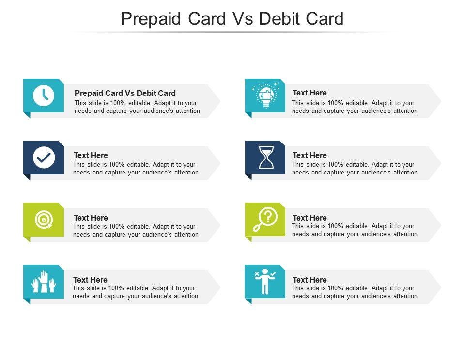 Prepaid Card Vs Debit Card Ppt Powerpoint Presentation Portfolio