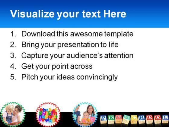 preschool education powerpoint template 1110 powerpoint slide