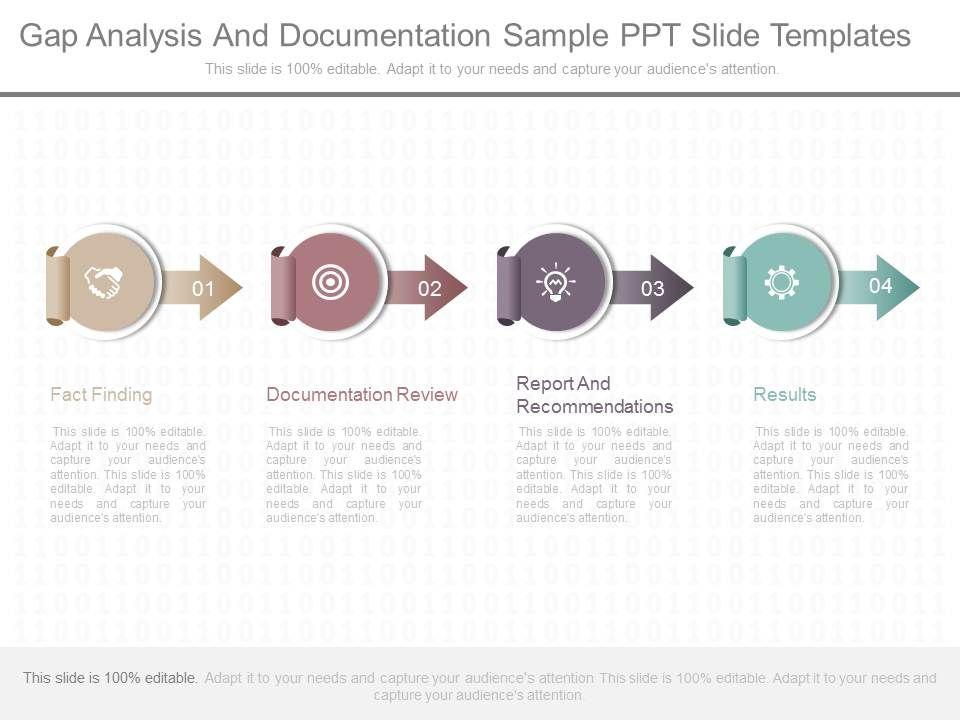 present gap analysis and documentation sample ppt slide templates, Presentation templates
